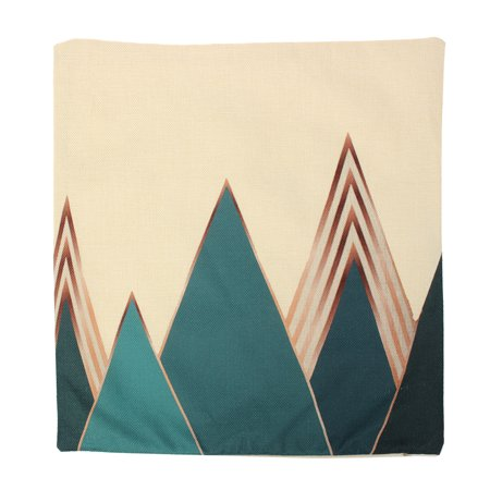 Meigar Blue Deer Simple Style Couch Cushion Pillow Covers 18x18 Square Zippered Cotton Linen Standard Decorative Throw Pillow Covers Slip Case Protector for Sofa Chair Seat  Patio, - image 3 of 5