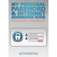 My Personal Password & Internet Addresses Book - Password Notebook