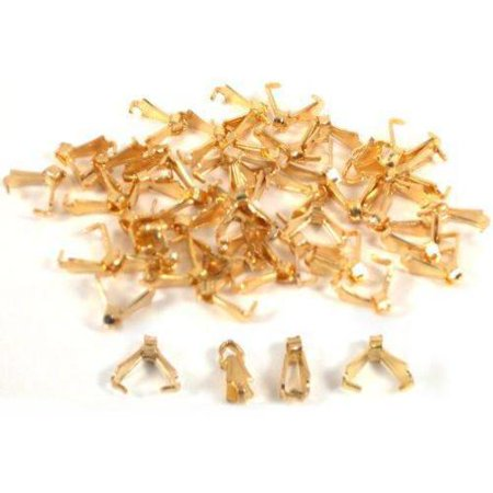 48 Bails Gold Plated Connectors Necklace Chain Parts