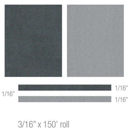 3M 74830 Scotchcal Elite Double Striping Tape  Light Charcoal Metallic Silver Metallic
