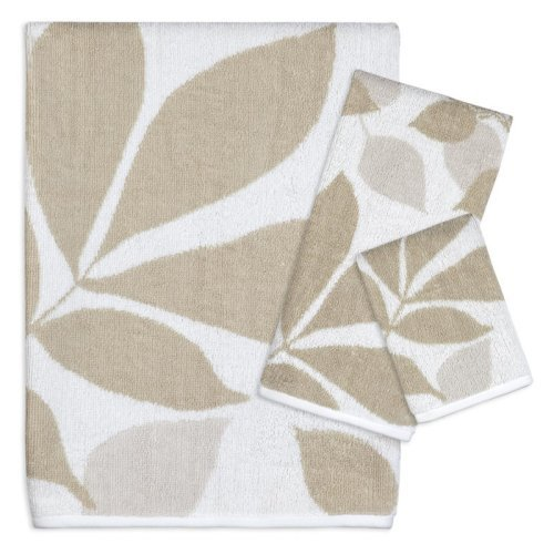 Creative Bath Shadow Leaves 100% Cotton 3 Piece Bath Towel Set