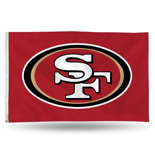 Rico Industries NFL 3' x 5' Banner Flag, San Francisco 49ers