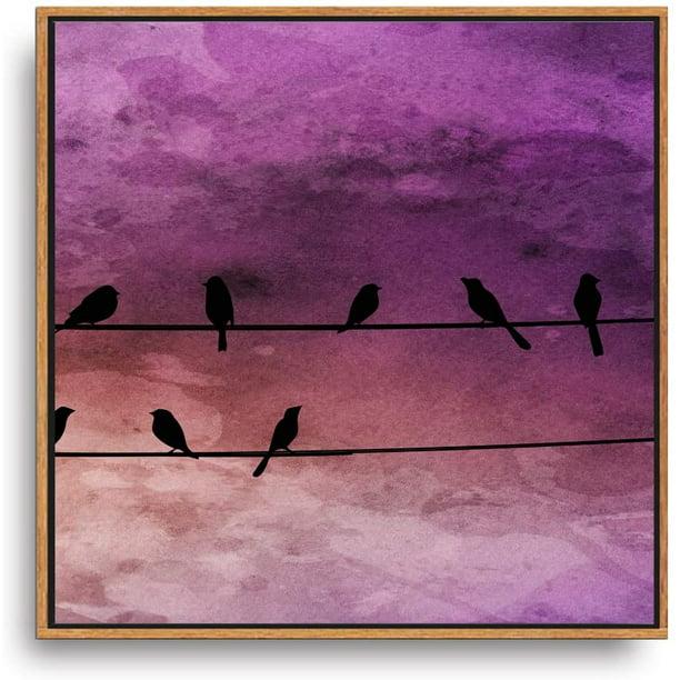 Home Decor Purple Bird II Canvas Wall Art Print