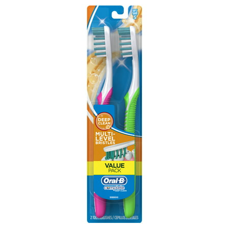 Oral-B Complete Deep Clean Toothbrushes, Soft, 2 Count