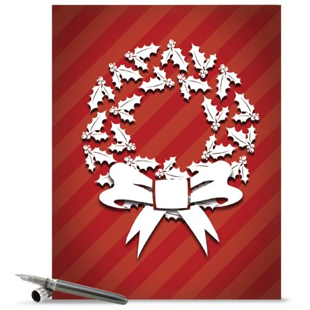 J6011gxsg large merry christmas card holly dimensions featuring j6011gxsg large merry christmas card holly dimensions featuring dimensional looking image of holiday m4hsunfo