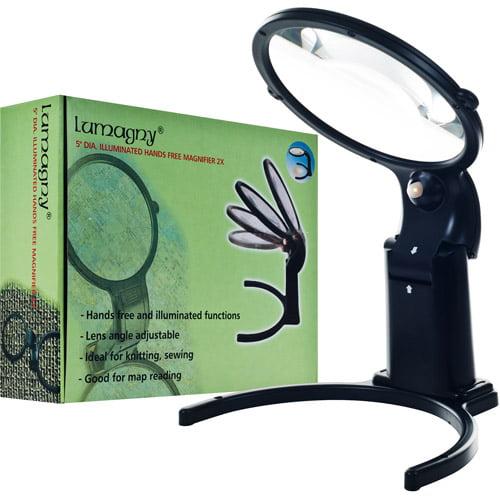 Lumagny MP7569 Lumagny 5 inch Hands Free 2X Magnifier LED Illuminated