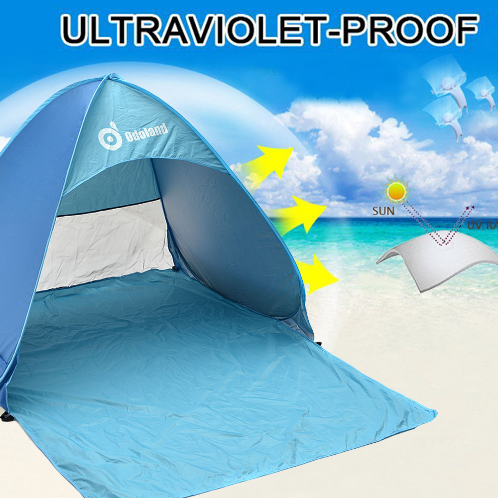 Anti-UV Pop up Instant C&ing Tent 2 Person Portable Automatic Beach Tent 43   sc 1 st  Walmart & Shade Tent for Beach