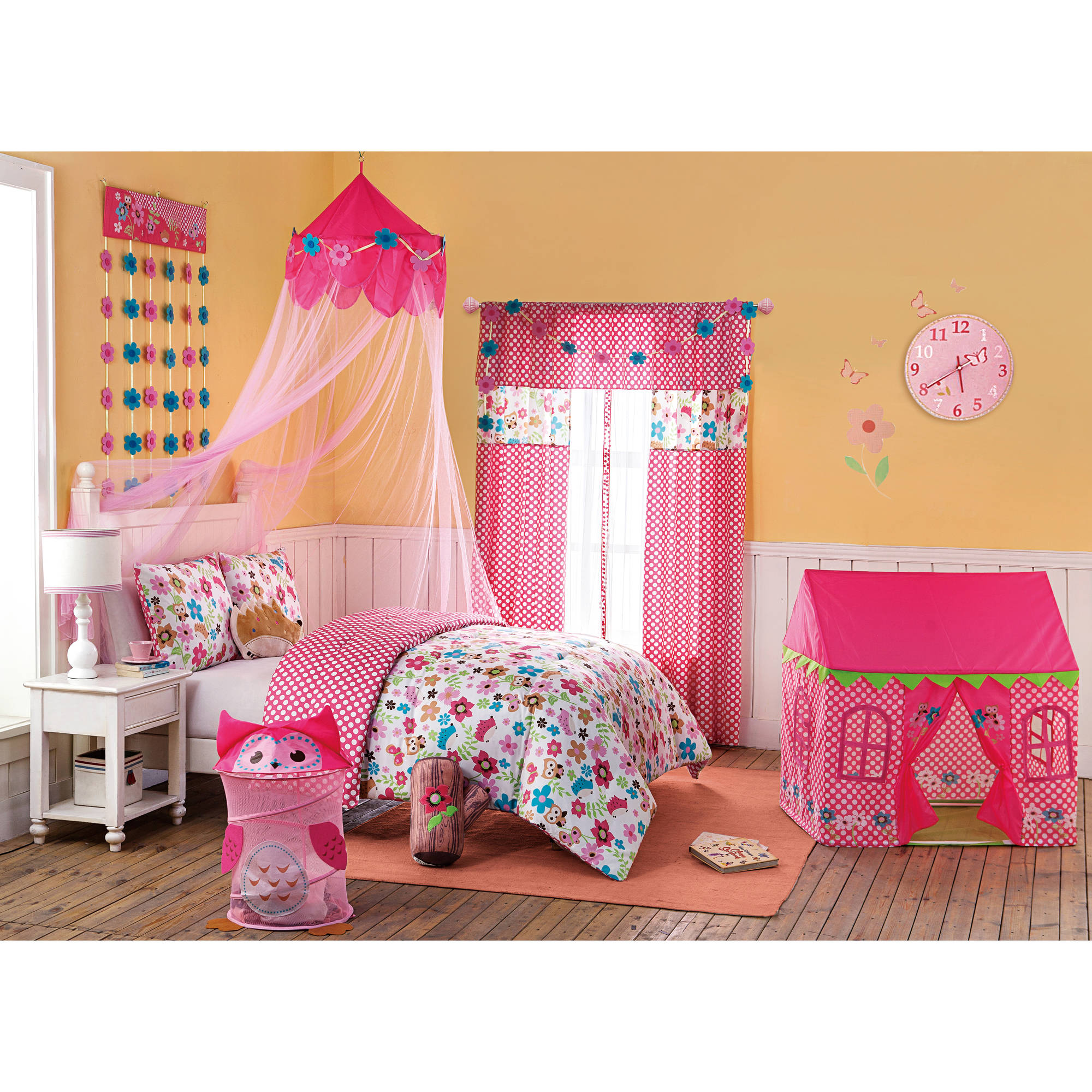 VCNY Home Big Believers Magical Garden Pink Polka Dot Pop-Up Kids Play Tent - Walmart.com  sc 1 st  Walmart : walmart pop up tent - memphite.com
