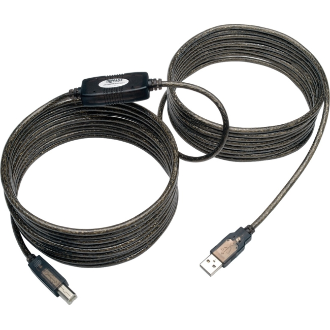 Tripp Lite High-Speed USB 2.0 A/B Active Device Cable, 25'