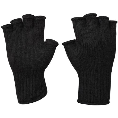 G.I. Black Wool Fingerless Glove - One Size Fits All