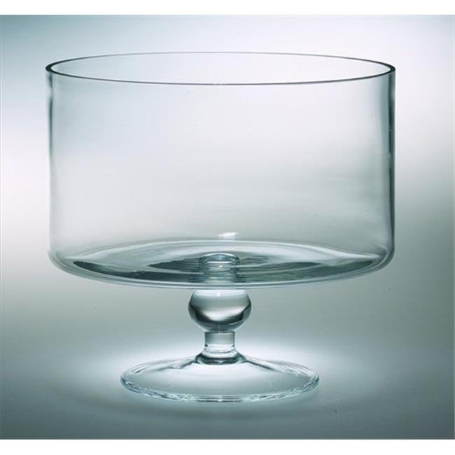 Classic clear 9.5 in. High Quality Glass Thick Trifle Bowl