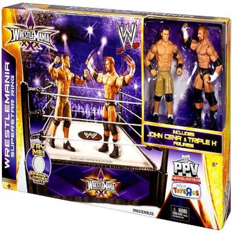 Mattel WWE Wrestling Exclusive Ring Playset WrestleMania ...
