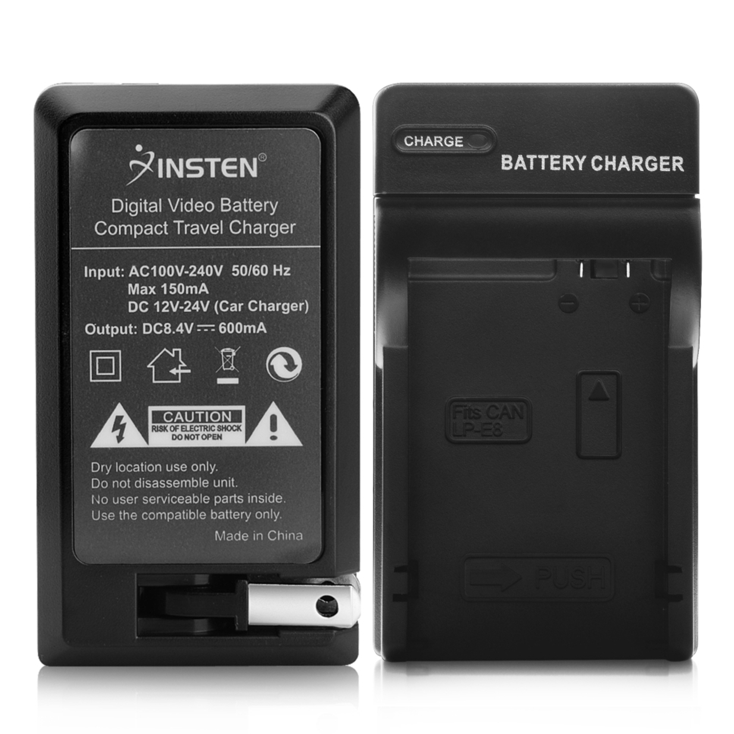 Insten Compact Battery Charger Set For Canon LP-E8