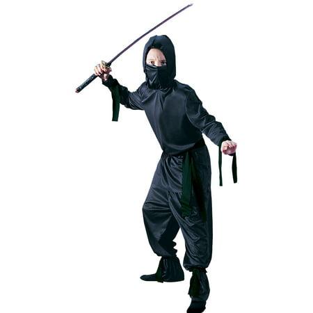 Ninja Halloween Costumes Kids (Black Ninja Child Halloween)