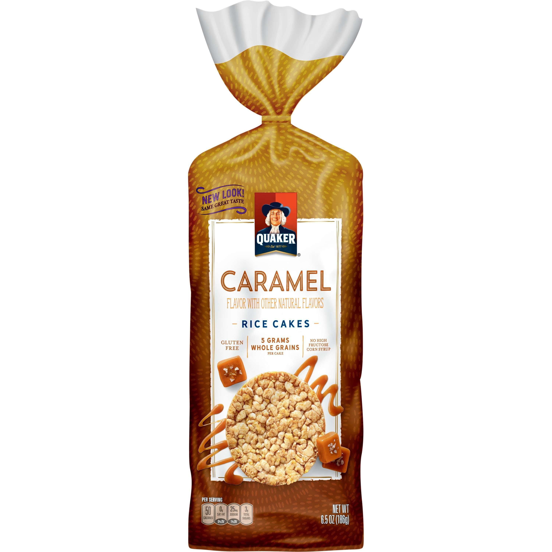 (4 Pack) Quaker Rice Cakes, Caramel, 6.5 oz Bag
