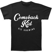 Comeback Kid Men's  Script T-shirt Black
