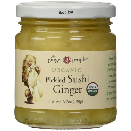 The Ginger People Organic Pickled Sushi Ginger, 6.70-Ounce Glass Bottle Standard Packaging