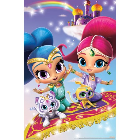 34 Shimmer Finish (Trends International Shimmer and Shine Key Art Wall Poster 22.375