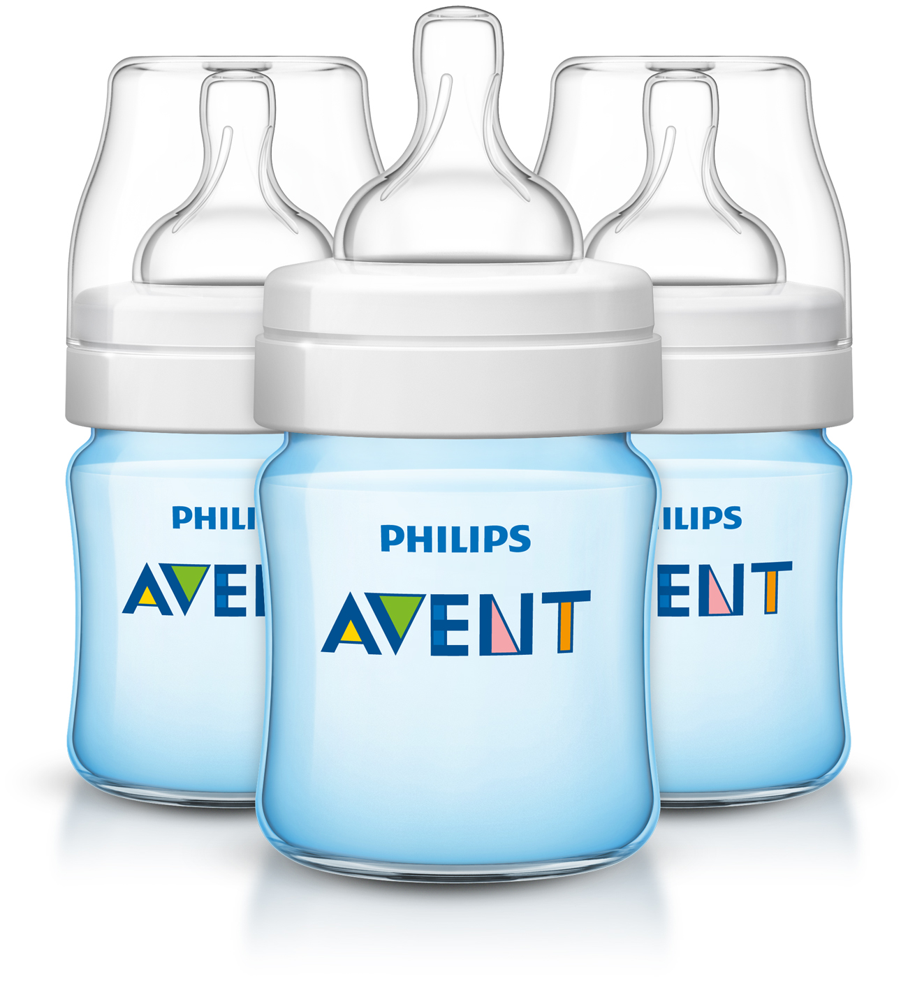 Philips Avent Anti-colic baby bottle Blue, 4oz, 3pk, SCF402/37