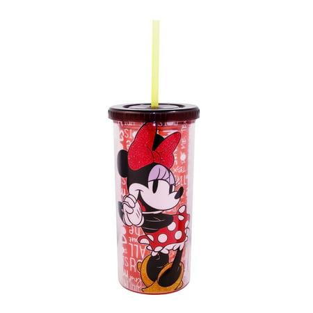 Minnie Mouse Glitter 20 oz Tall Travel Tumbler ()