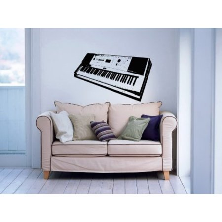 synthesizer synth musical instrument decor recording music studio wall vinyl decal art sticker home modern stylish interior decor for any room smooth and flat surfaces housewares murals design
