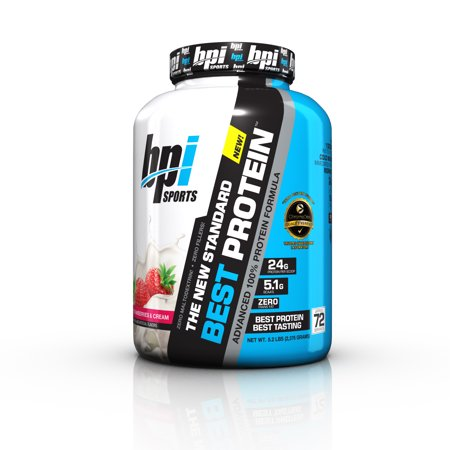 BPI Sports Best Protein Advanced 100% Protein Formula, Strawberries & Cream, 5.2