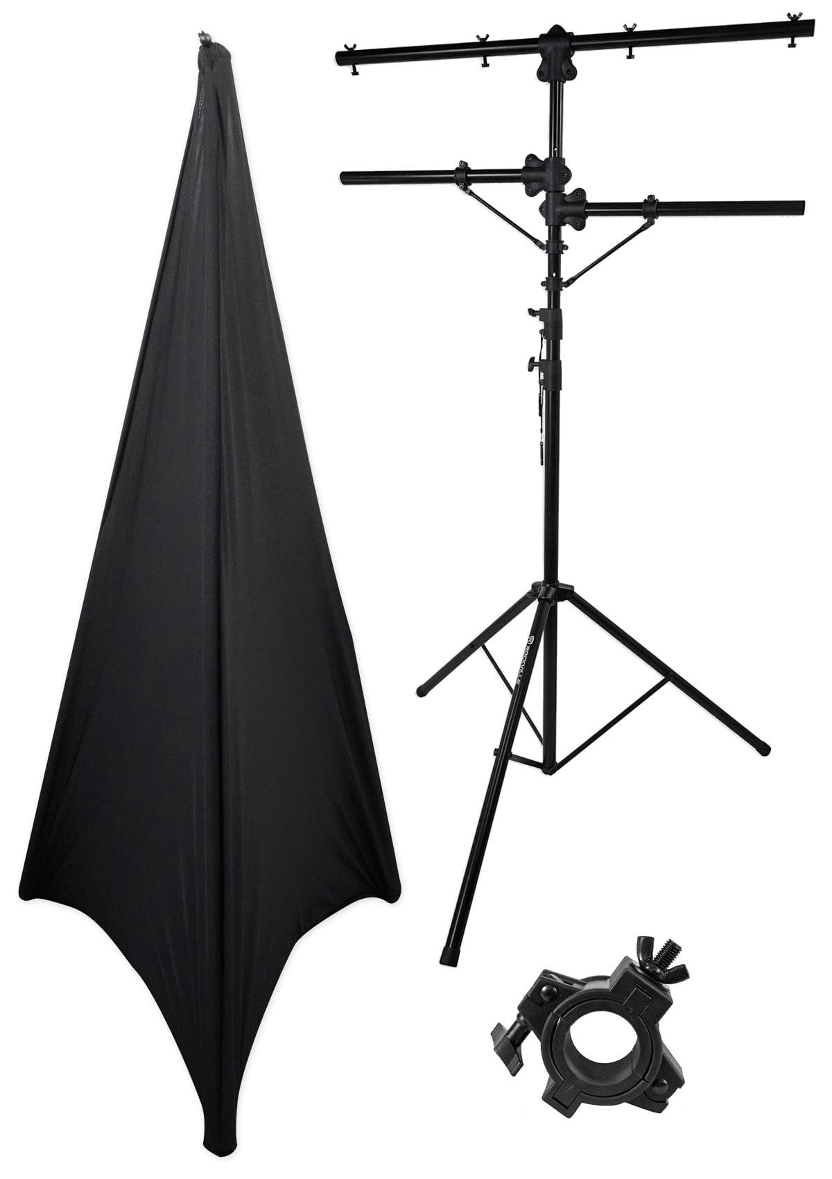 Rockville RVLS1 Lighting Tree Light Stand + Scrim Werks Black Cloth Cover by ROCKVILLE