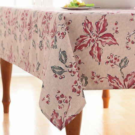 Food Network Ribbed Winter Garden Floral Tablecloth Fabric Table Cloth 60x102