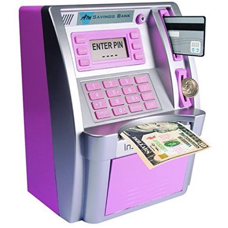 Sailor Bank (Children's ATM Savings Bank - Limited Edition - Pink/Silver )