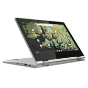 Lenovo ChromeBook C340 11.6 Chrome Touch Laptop, Intel Celeron N4000 Dual-Core Processor, 4GB Memory, 32GB eMMC Solid State Drive, Chrome OS - Paltinum Grey - 81TA0010US