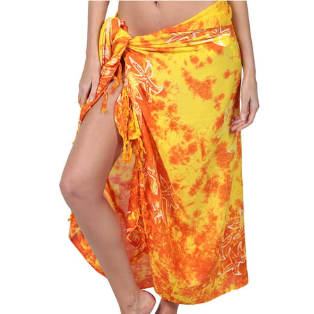 Ingear Long Batik Print Sarong Womens Swimsuit Wrap Cover Up Pareo