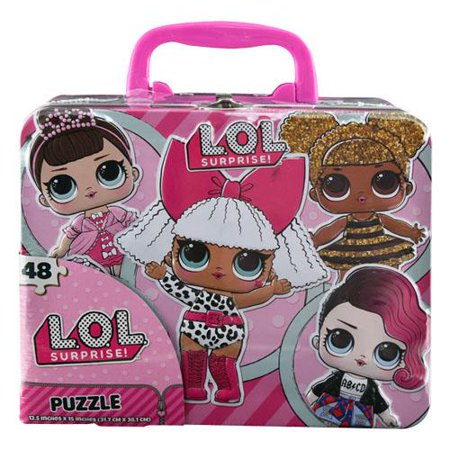 Licensed L.O.L Surprise! Large Lunch Tin Box with 24pc puzzle inside