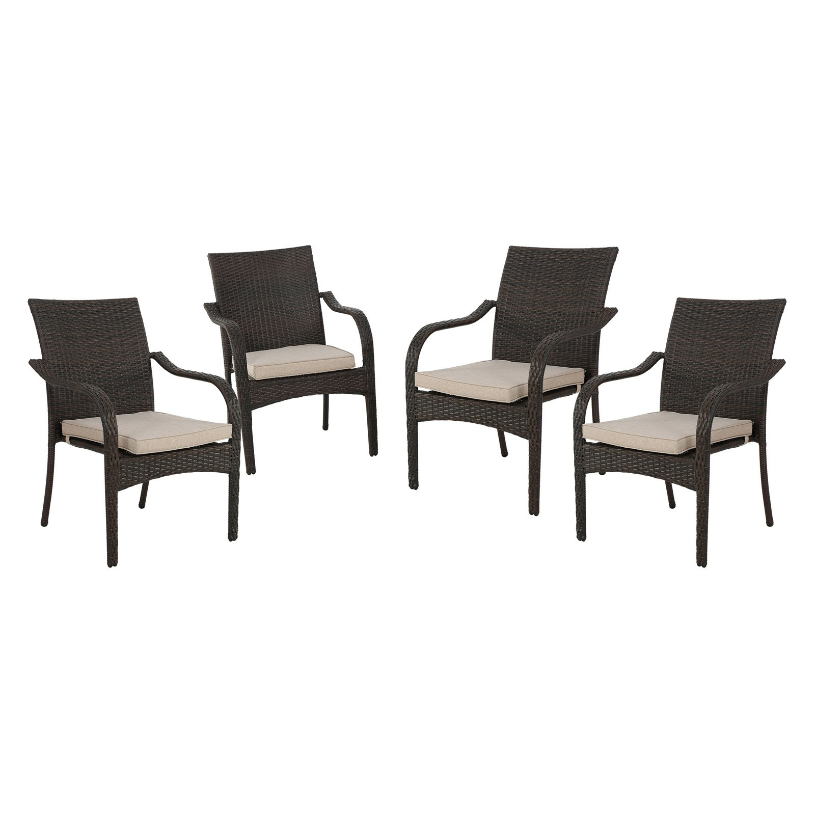 Solomon Wicker Stacking Chairs - Set of 4