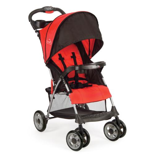 Kolcraft Cloud Plus Fire Red Lightweight Stroller with 5-point safety system and Recling Seat by Kolcraft