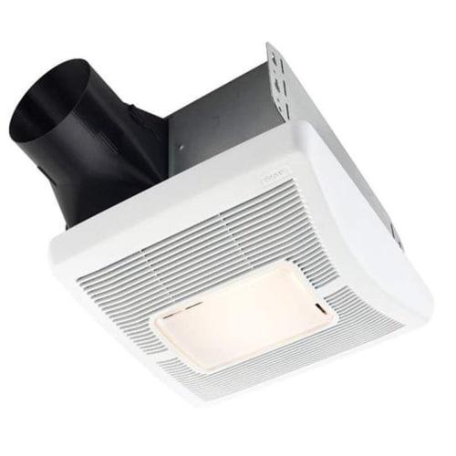 Broan White Single-Speed Bath Fan light