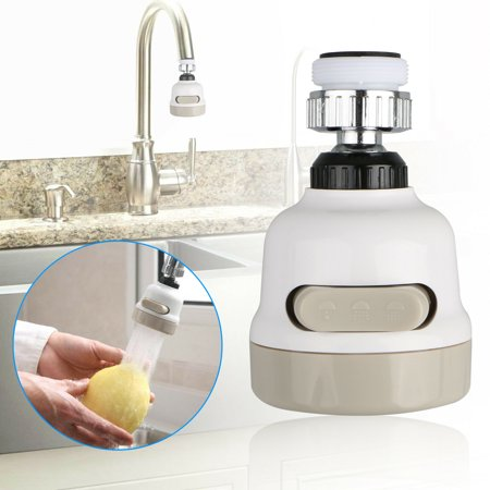 EEEkit 360 Degree Rotate Faucet Sprayer,Three Gear Adjustable, Kitchen Saving Tap Head Movable Kitchen Water Spray, Saving Bubbler Connector Swivel Tap Aerator Diffuser Kitchen