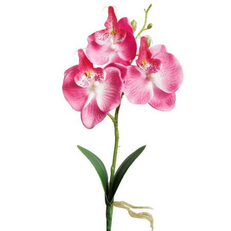 Triple Head Artificial Butterfly Orchid Silk Flower Home Wedding Decor - Silk Butterflies
