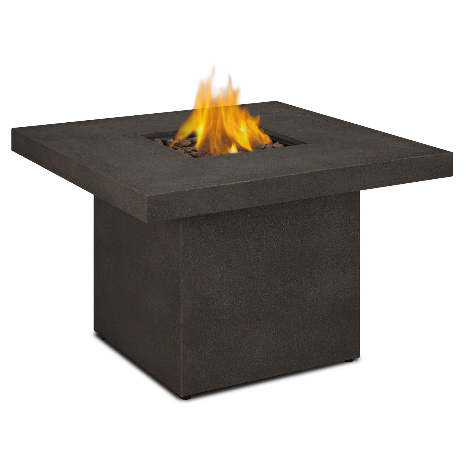 Real Flame Ventura Square Chat Height LP Fire Table