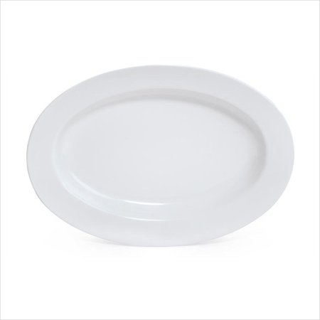 Milano 18 inch x 13 inch Oval Platter 1.75 inch Deep White Melamine/Case of - China 13 Inch Oval Platter