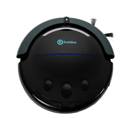 Refurbished Best in Class RolliTerra Robotic Vacuum Robot – Quiet, Deep-Cleaning Rollerbrush Filters Debris & Pet Hair, Includes Remote, Like