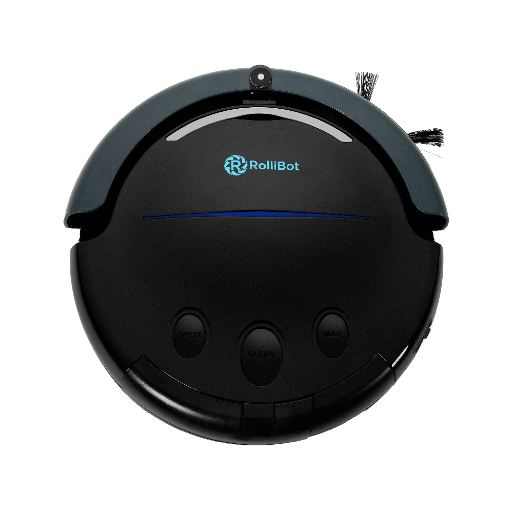 (Used - Like New) Best in Class RolliTerra Robotic Vacuum Robot – Quiet, Deep-Cleaning Rollerbrush Filters Debris & Pet Hair, Includes Remote