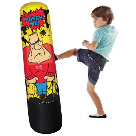 Pure Boxing Bully Bag Inflatable Punching Bag for Kids, 56-inches (Boxing Material)