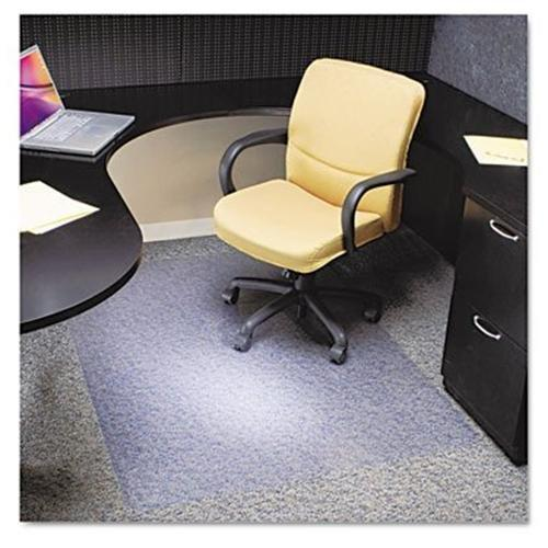 "Es Robbins Multi-task Anchorbar Carpet Chair Mat - 60"" Length X 46"" Width X 0.38"" Thickness Overall - Vinyl - Clear (ESR128371)"