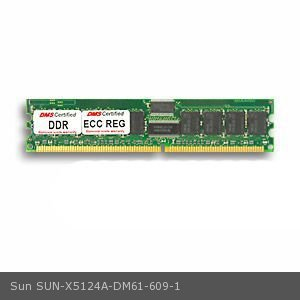 DMS Compatible/Replacement for Sun X5124A Fire V65x 1GB DMS Certified Memory DDR PC2100 266MHz ECC/Reg. 128x72 CL2.5  2.5v DIMM (64x4) 36 Chip - DMS