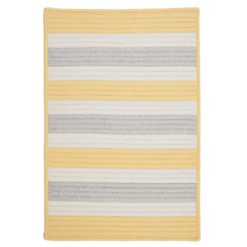 Colonial Mills Stripe It Yellow Shimmer Indoor/Outdoor Rug
