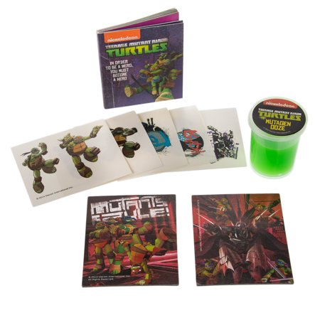 Ninja Turtles Tattoos (Running Press Teenage Mutant Ninja Turtles Mini Toy Set Mutagen Slime Book Temporary Tattoos)