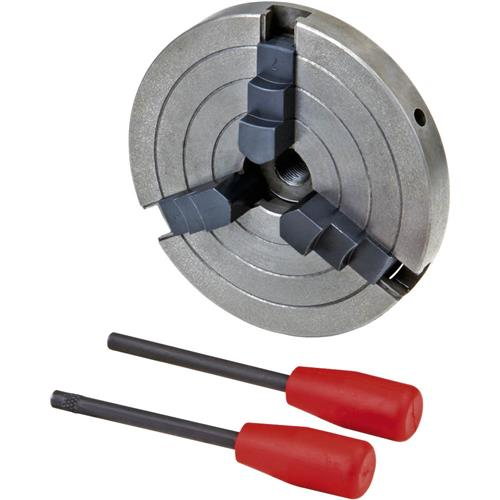 """Grizzly H8044 6"""" 3-Jaw Wood Chuck - 3/4"""" x 16 TPI"""