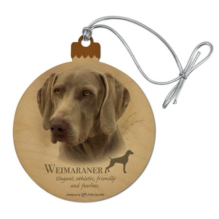Weimaraner Dog Breed Wood Christmas Tree Holiday Ornament Personalized Dog Breed Ornament
