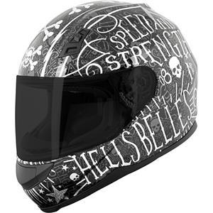 Speed & Strength SS700 Hells Belles Full Face Helmet Black/Silver
