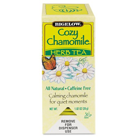 - Bigelow Single Flavor Tea, Cozy Chamomile, 28 Bags/Box